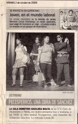 Diario Hoy, 2 de octubre 2009.