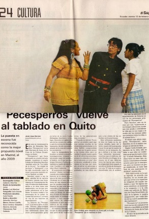 El telégrafo, 12 de febrero 2010.