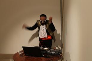 Dj Lujuria en su intervención en Mantequilla Dance
