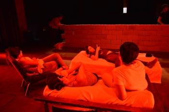 Indira Reinoso, Paty Jurado, Jenny Flores y Meqlui Muñoz en la prueba de la acción