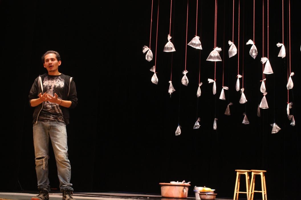 Tián Sánchez al final de la obra