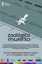 afiche digital Zoologico muerto